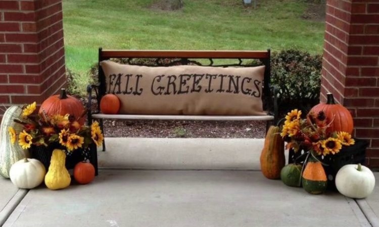 Beautiful fall Front Porch Decorating Ideas