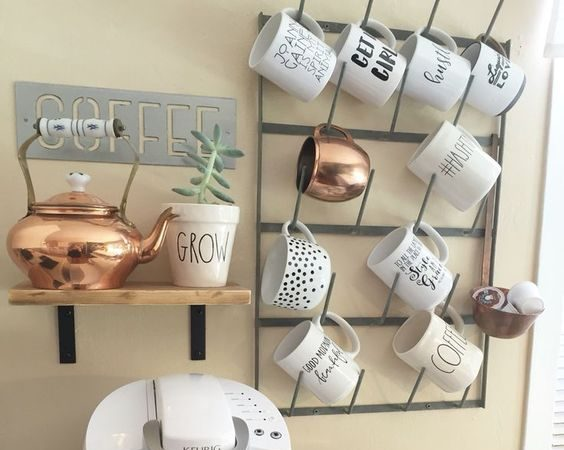 Impressive Ideas for small Coffee Station