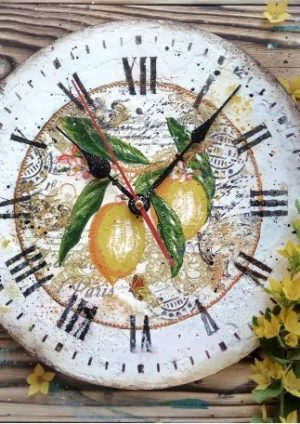 How to make amazing summer vintage clock