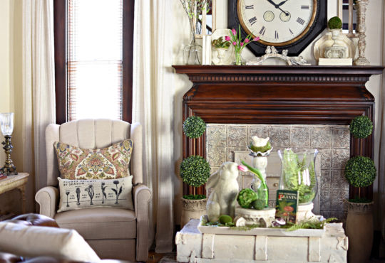 Adorable spring tour decorating with bunny