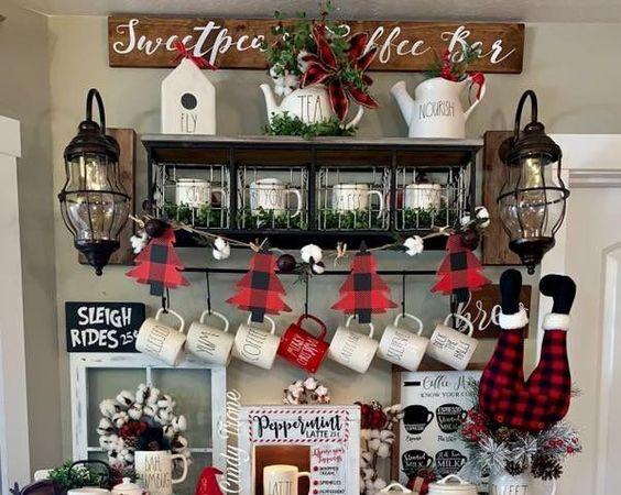 Brilliant 23 Christmas Coffee Station Ideas